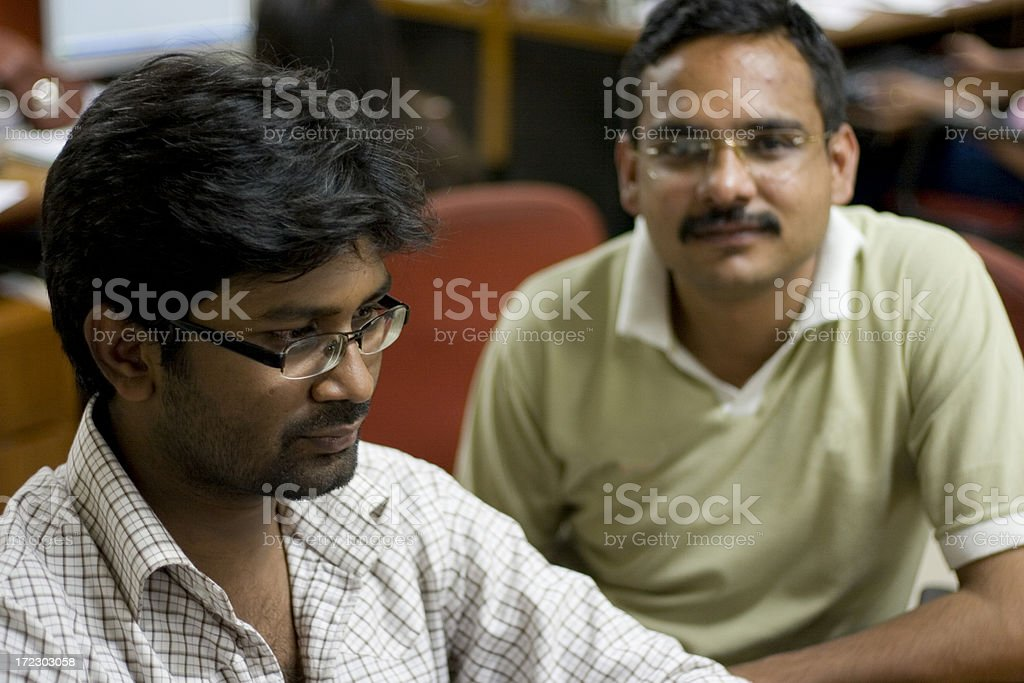 Indian IT Team Two software engineer Office Worker People Horizontal royalty-free stock photo