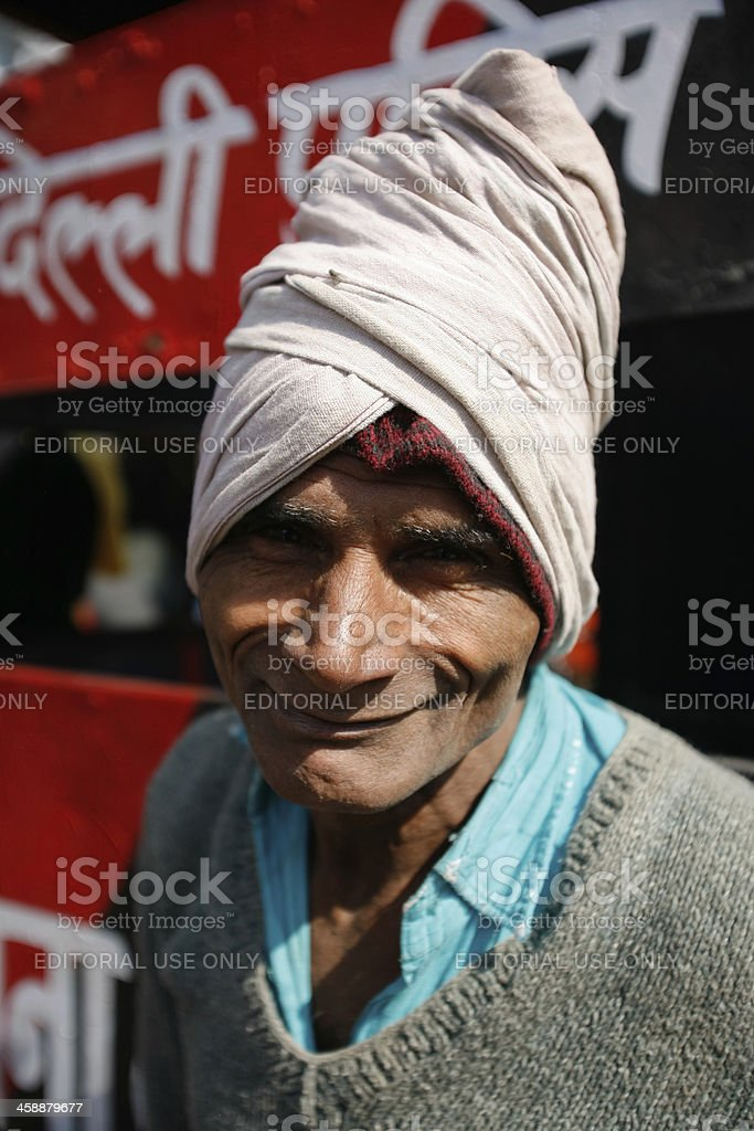 Indian labourer royalty-free stock photo
