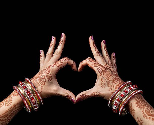 indische lieben - ruhegebet tattoo stock-fotos und bilder