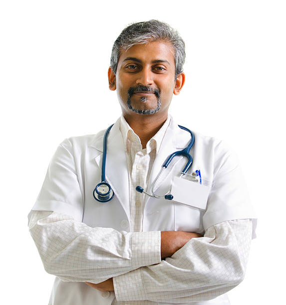 Indian male doctor stock photo