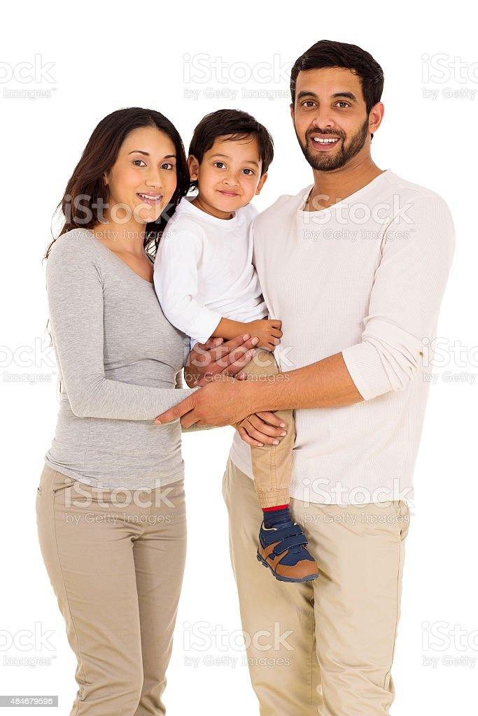 indian man and family stock photo