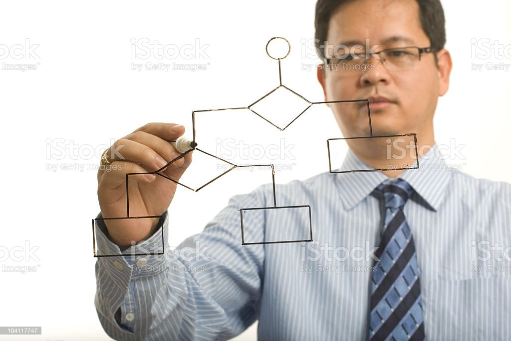 Indian man planning the structure royalty-free stock photo