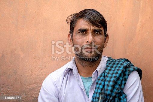 Indian Man Portrait Outdoors