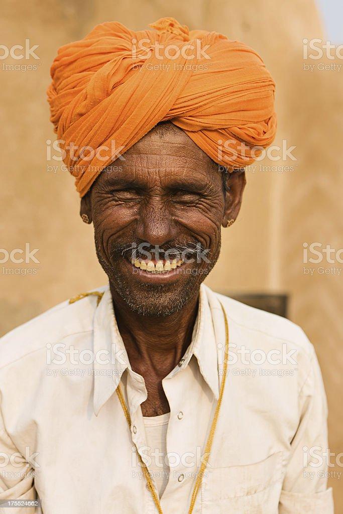 Indian man. Rajasthan. India. stock photo