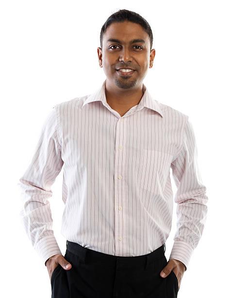 Indian man smiling. stock photo