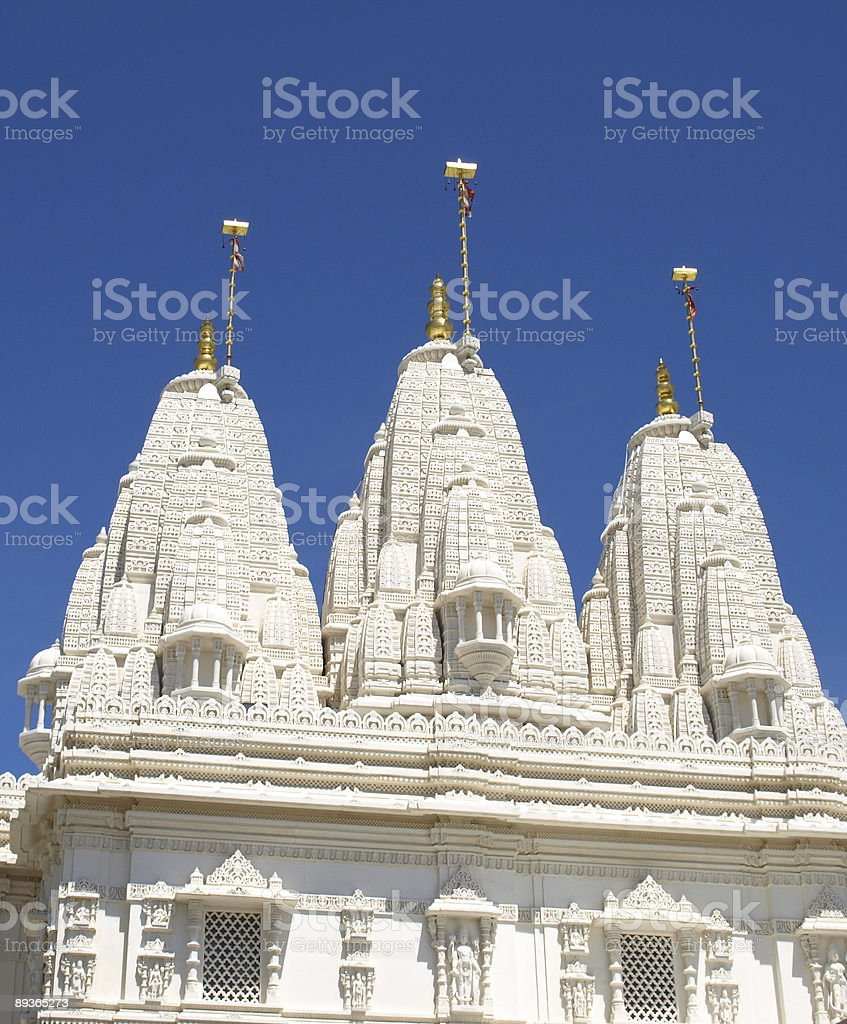 Marmo indiano Tempio con Cupola e pietra intaglio. foto stock royalty-free