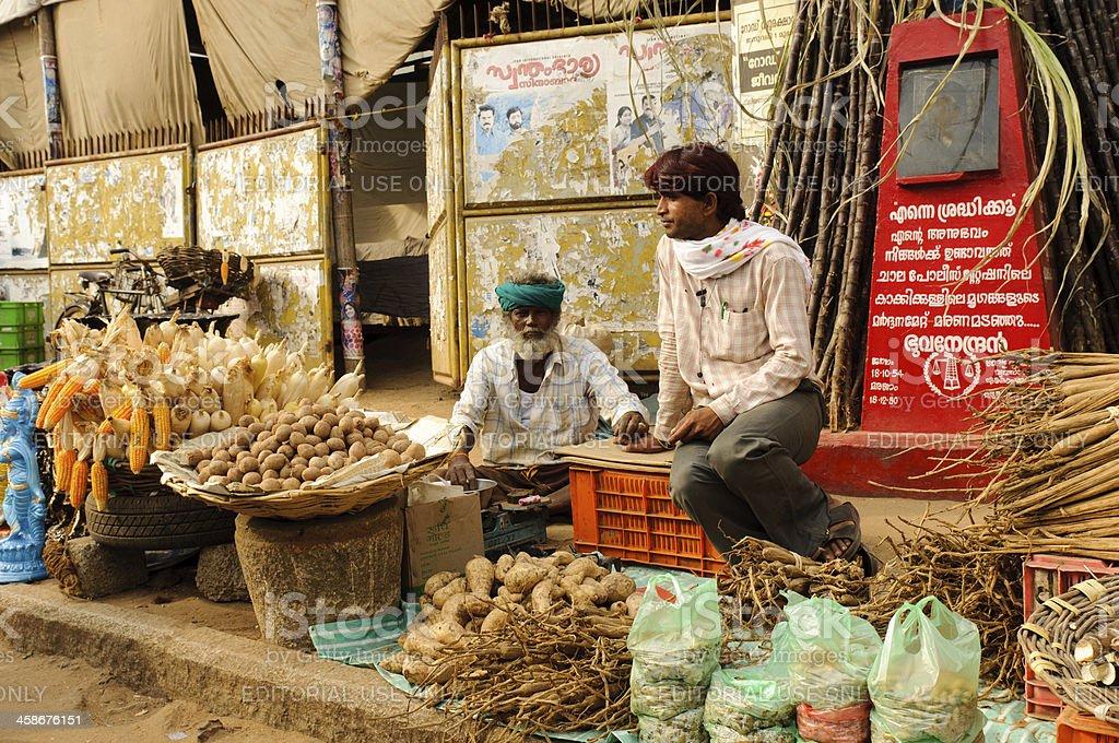 Indian market royalty-free stock photo