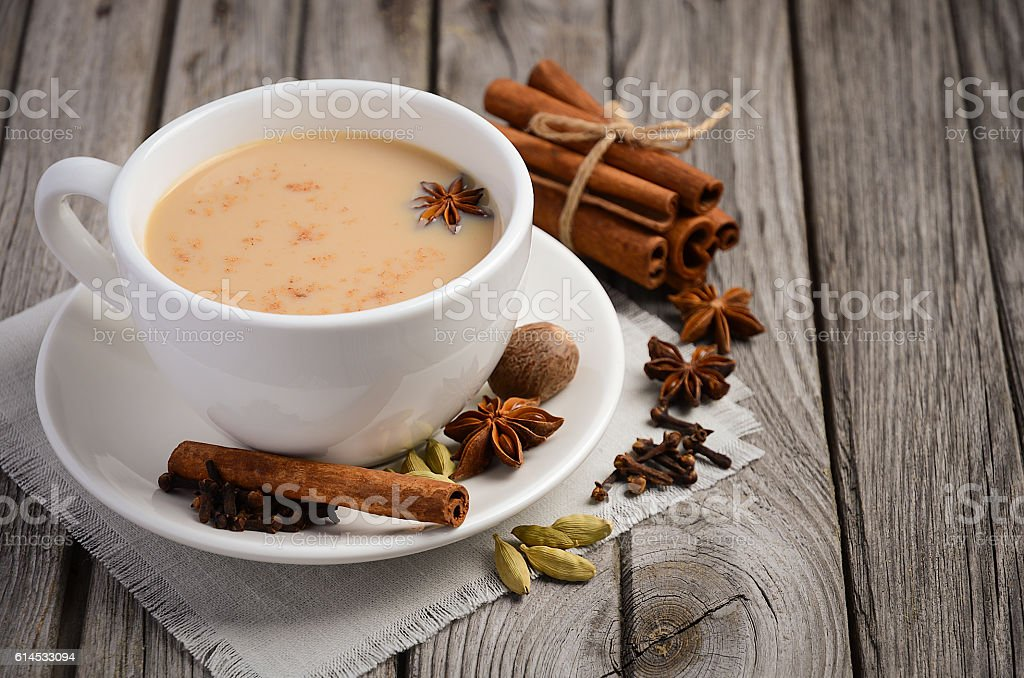 Indian masala chai tea stock photo