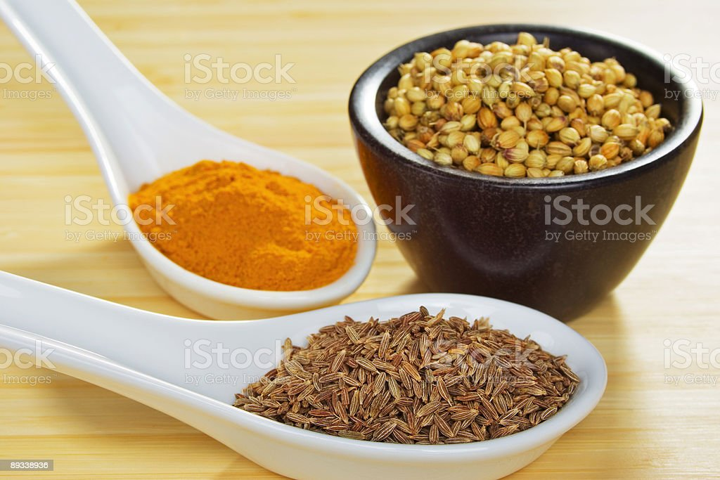 Indian Meal Food Cuisine Basic Curry Spices royalty-free stock photo
