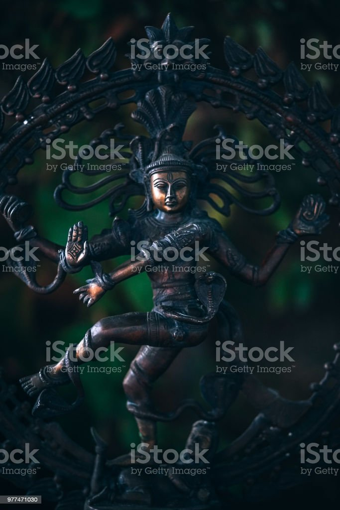 Indian Metallic Goddess Statue stock photo
