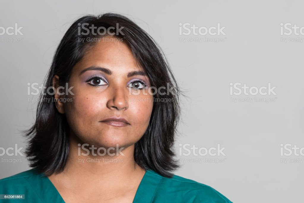 Indian mid adult woman stock photo
