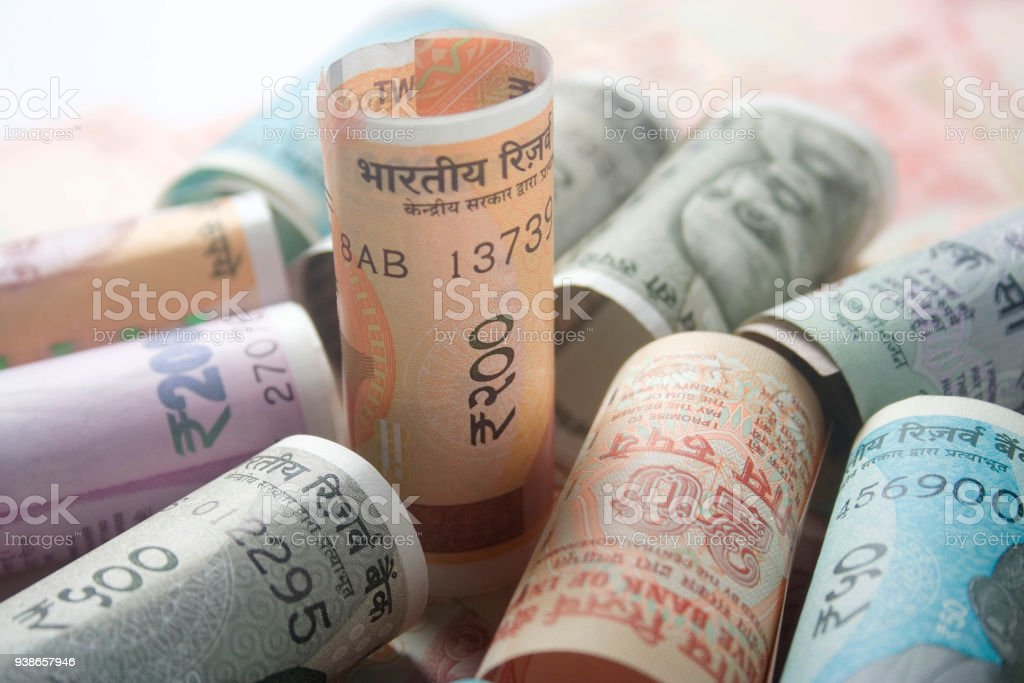Indian Money 200 Hundred Rupees Stock Photo - Download Image Now
