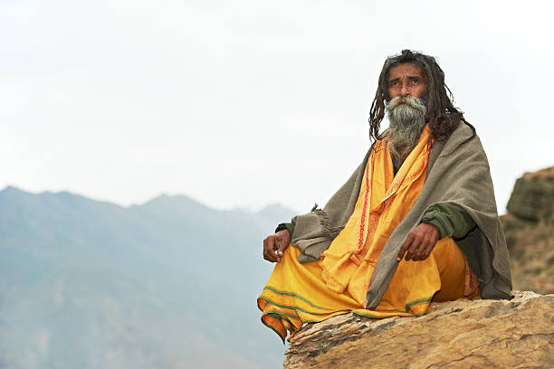 indian monk sadhu - human saliva stock pictures, royalty-free photos & images