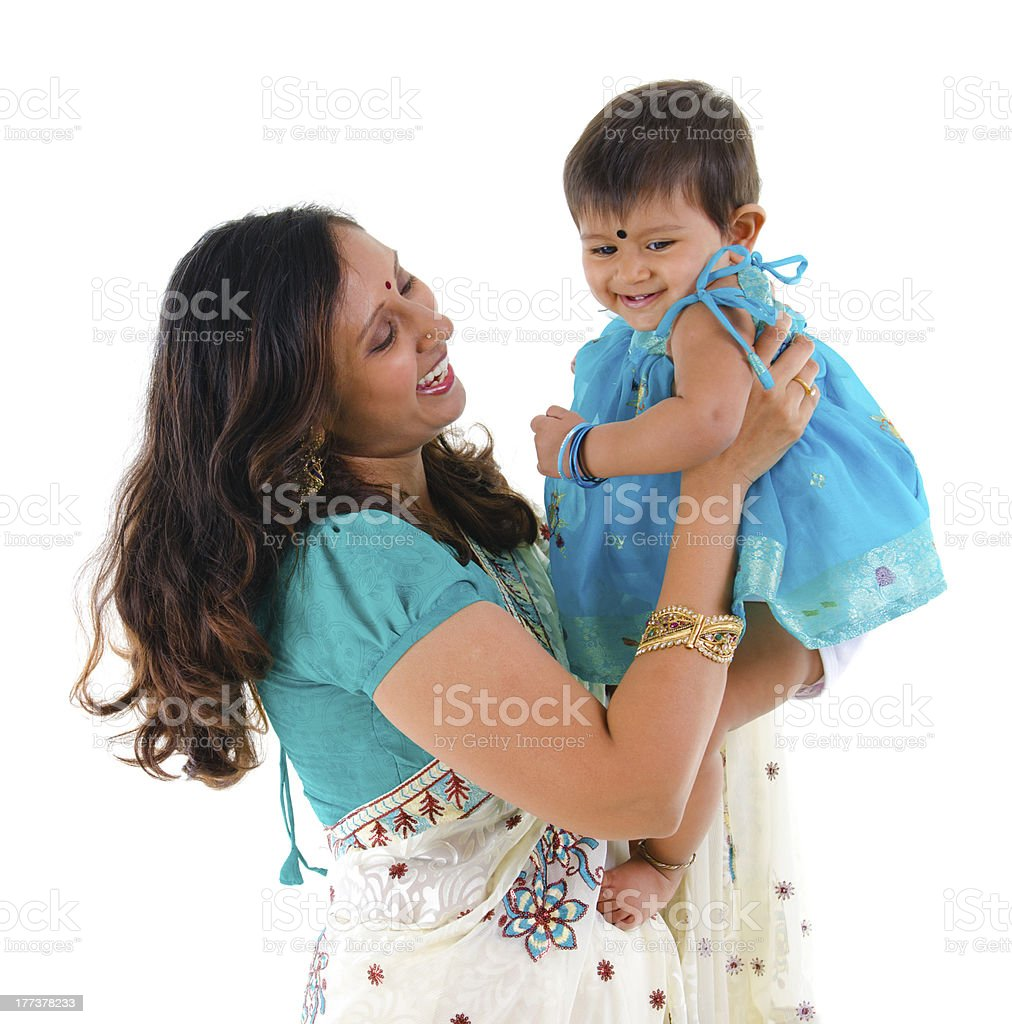 Indian Madre e figlia - foto stock