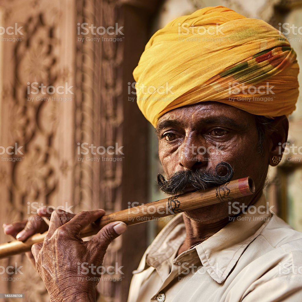 Indian musician stock photo