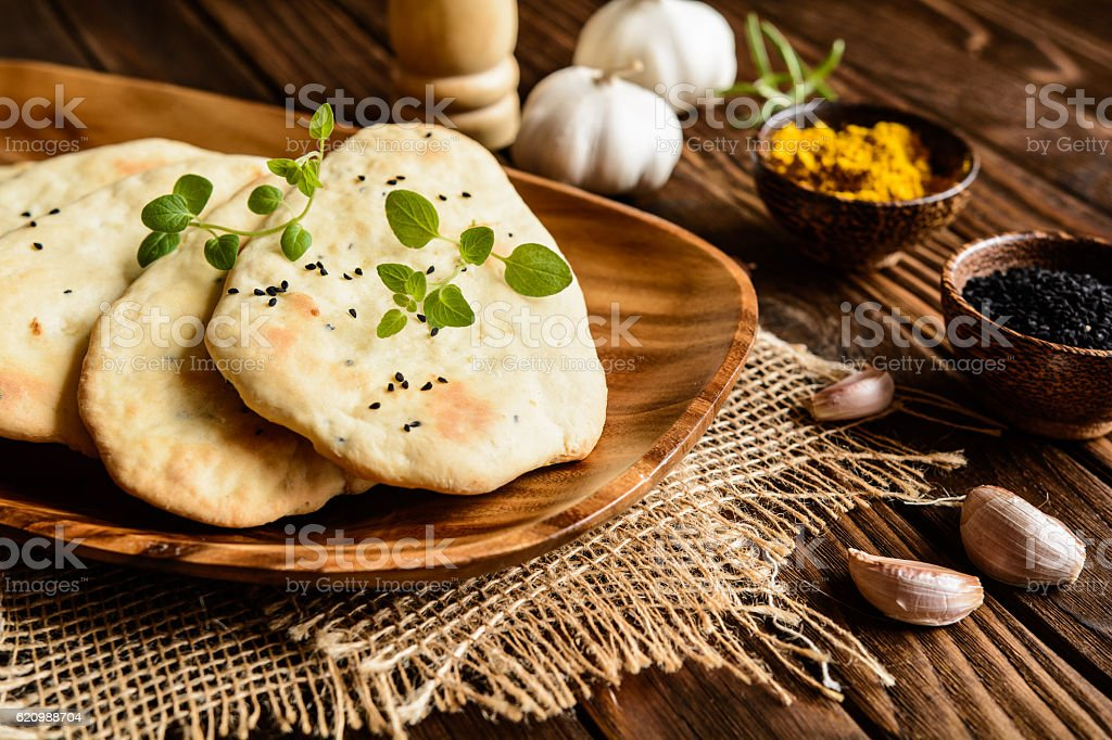 Indian pão Naan foto royalty-free