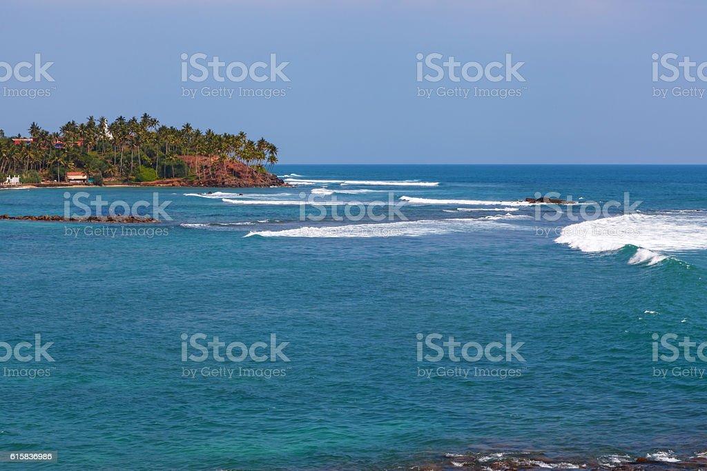 Indian ocean around Mirissa, Sri Lanka royalty-free stock photo