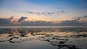 Indian Ocean at dawn off the coast of Zanzibar, Tanzania