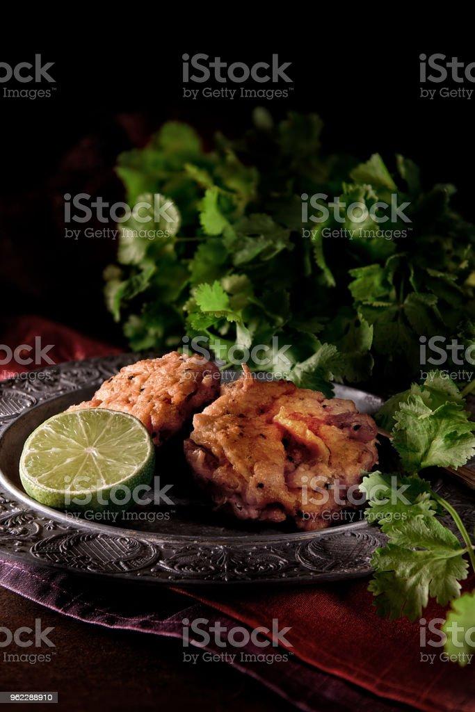 Indian Onion Bhajis stock photo