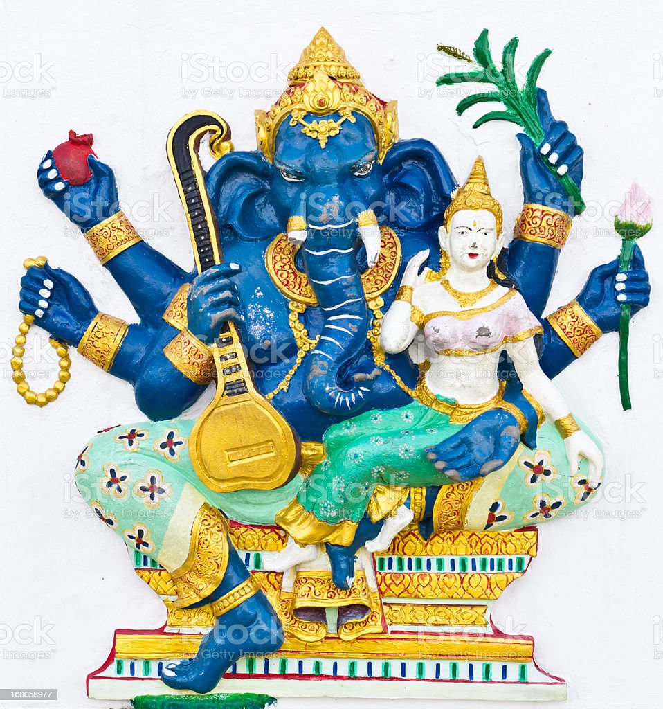 Indian or Hindu ganesha God Named Uchchishta Ganapati royalty-free stock photo