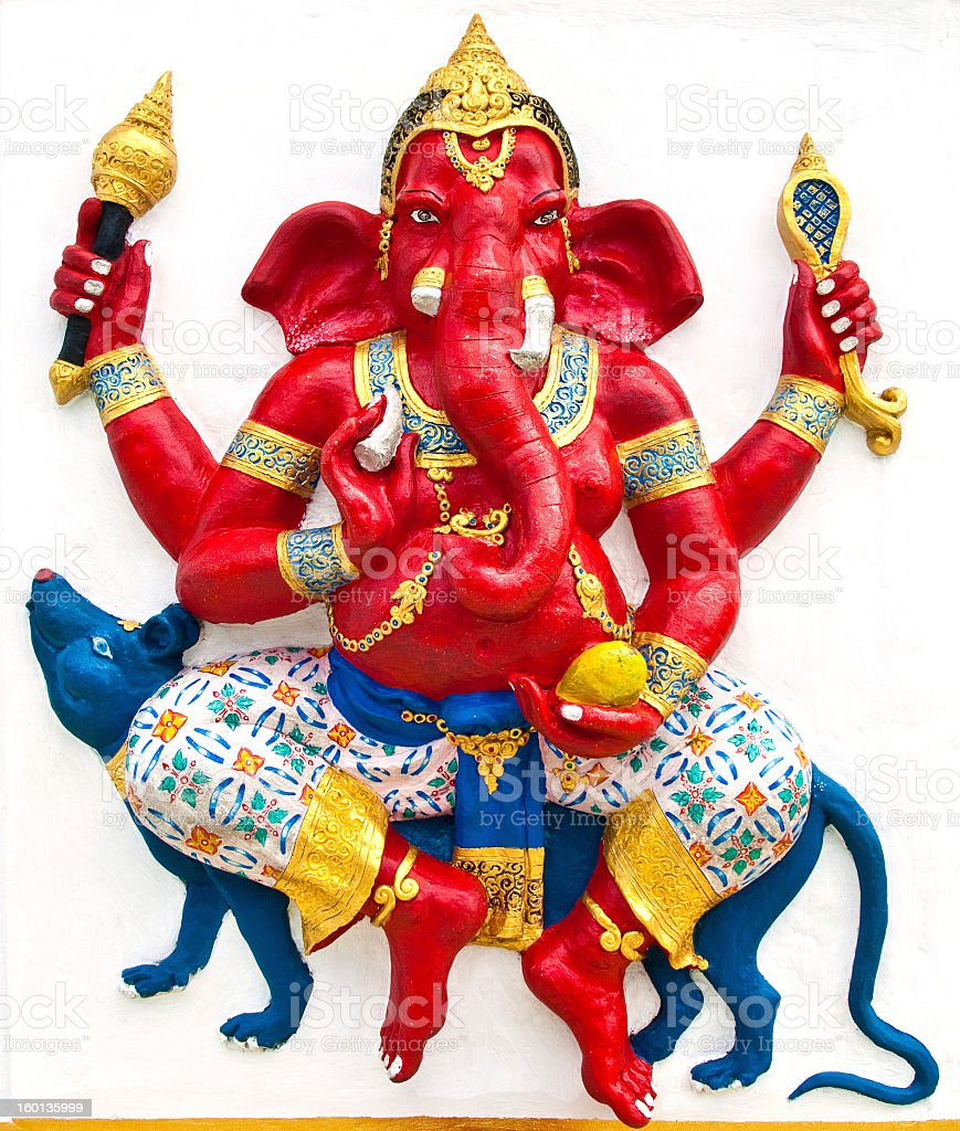 Indian or Hindu ganesha God Named Vijaya Ganapati royalty-free stock photo