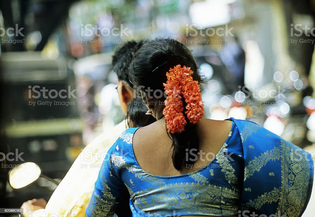 Indian Paar in Motorcycle royalty-free stock photo