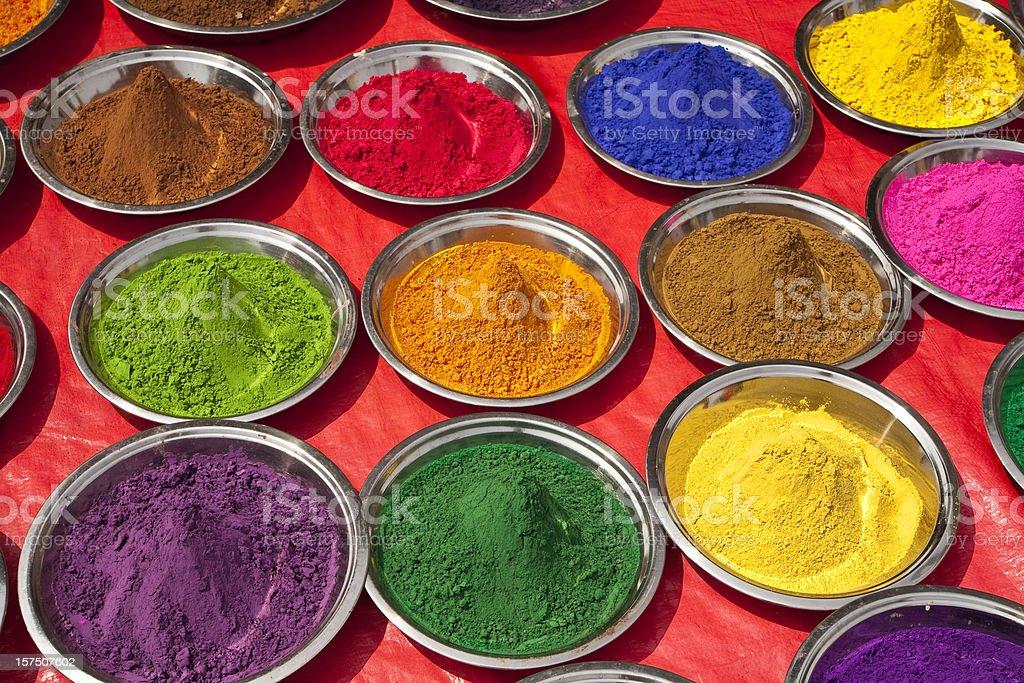 Indian Paint pigment stock photo