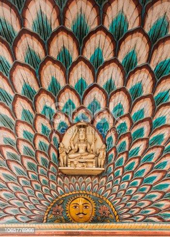 Indian Painted Door in Jaipur