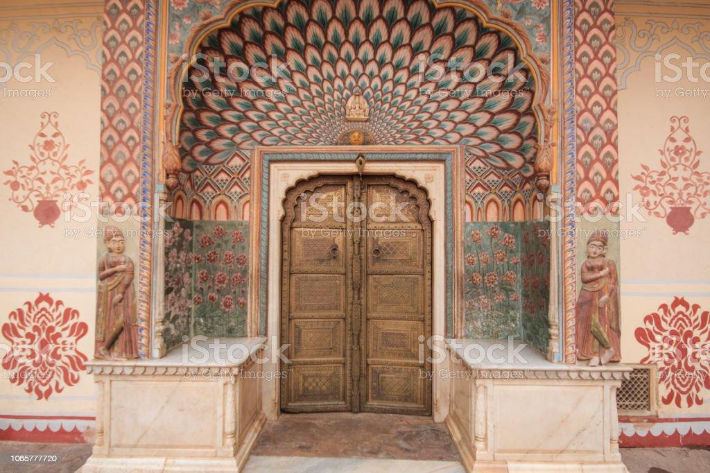 Indische Gemalt Tür In Jaipur Stockfoto Und Mehr Bilder Von Alt Istock