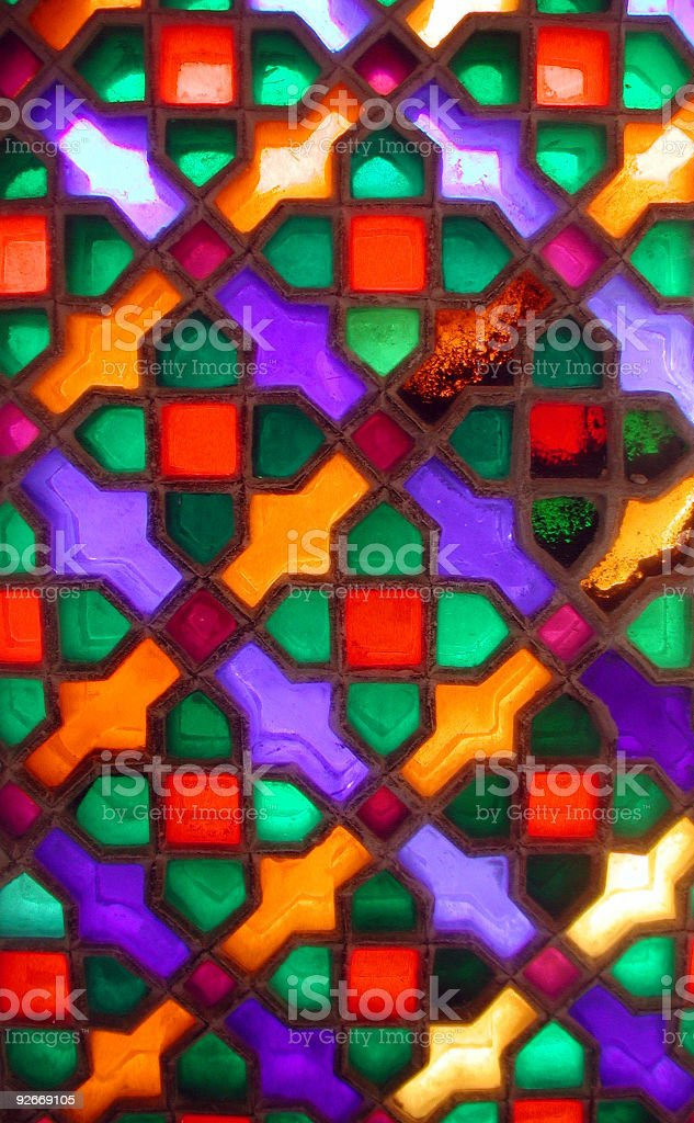 Indian Palace Stained Glass royalty-free stock photo