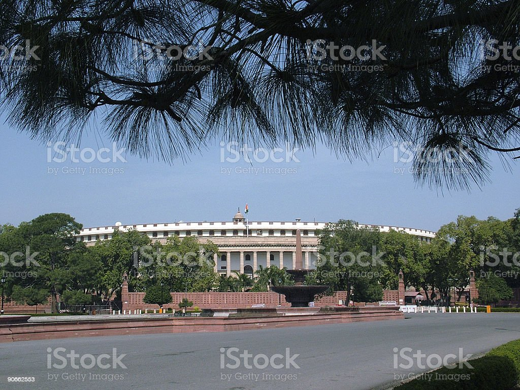 Indian Parliament House, New Delhi royalty-free stock photo