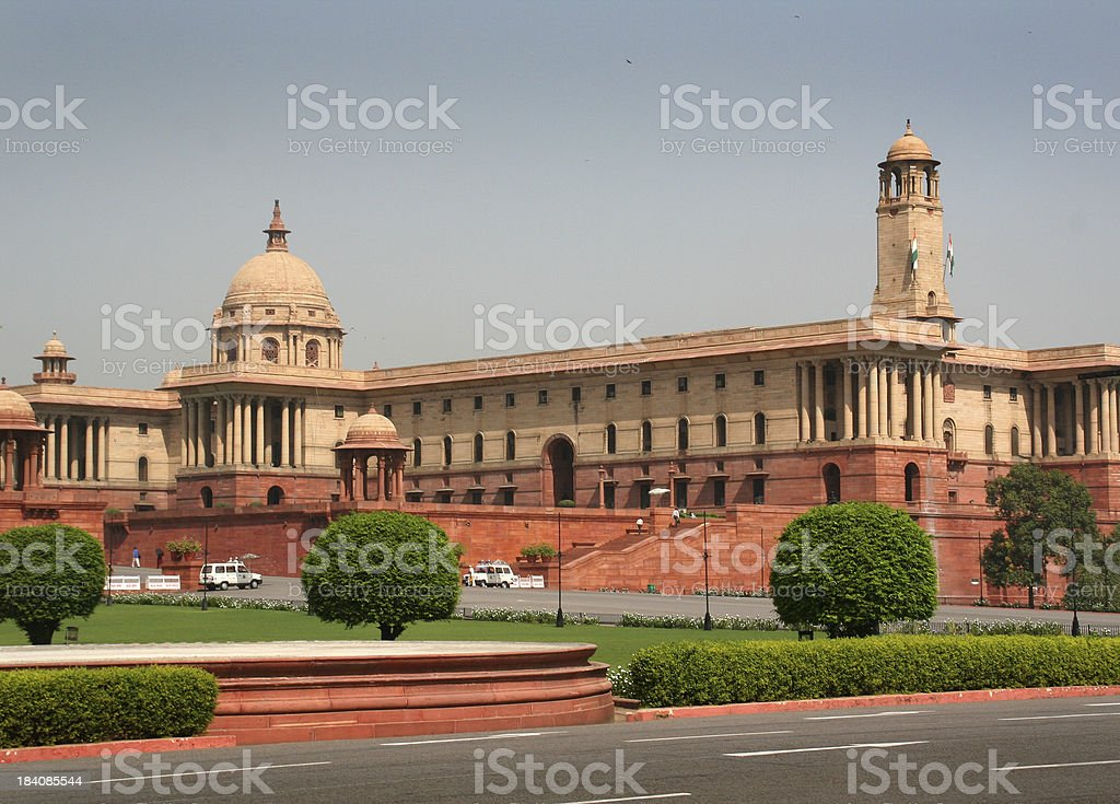 Indian Parliament in New Delhi, the Politic Government of India stock photo