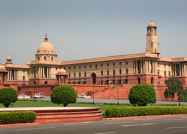 Indian Parliament in New Delhi, the Politic Government of India stock photo  ...