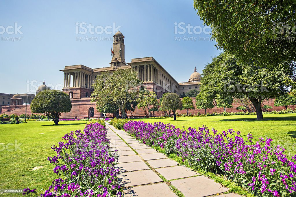 Indian Parliament stock photo