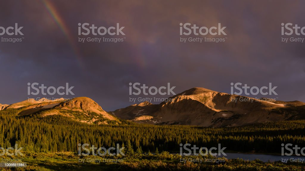 Indian Peaks Wilderness Sunrise stock photo