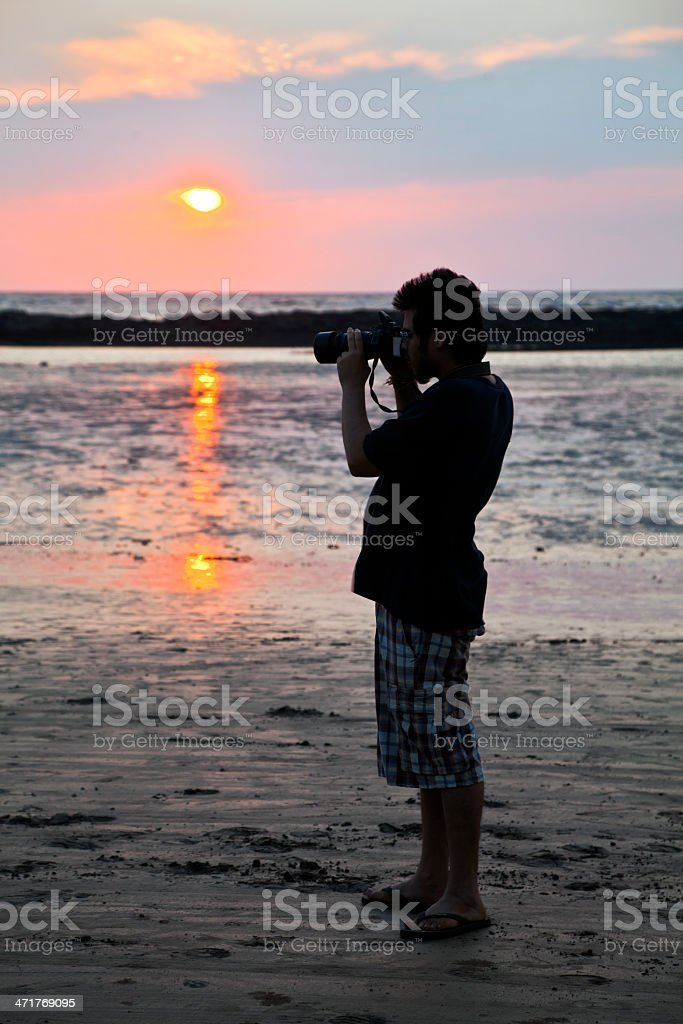 Indian Photographer Manori Beach  Bombay stock photo