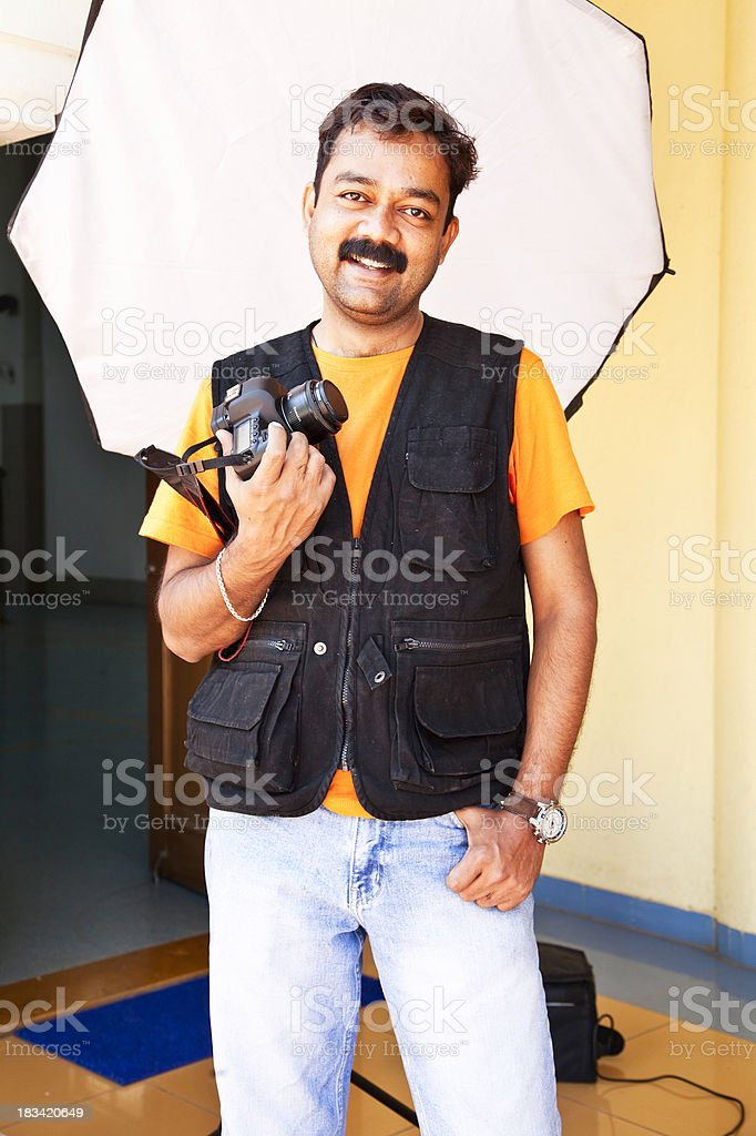 Indian photographer stock photo