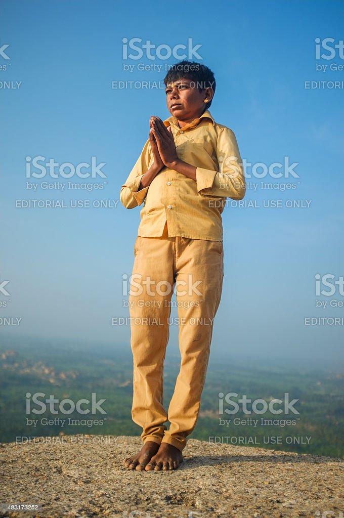 Indian pilgrim stock photo