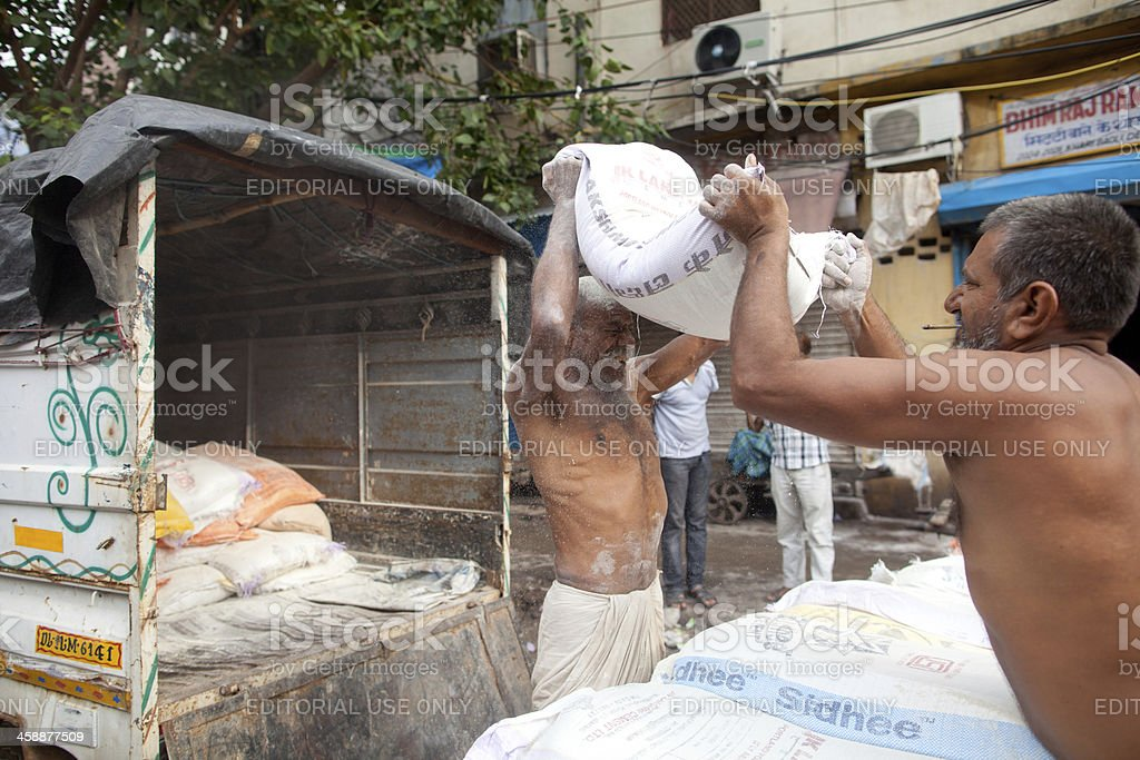 Indian porters in New Delhi royalty-free stock photo