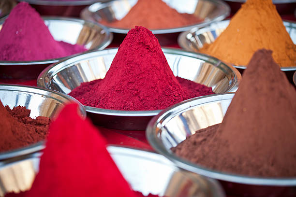 Indian Powders stock photo
