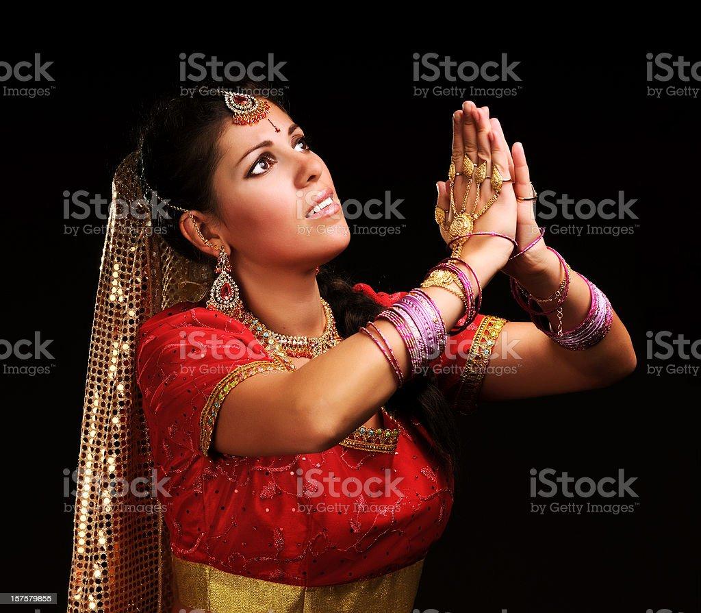 Indian prayer royalty-free stock photo