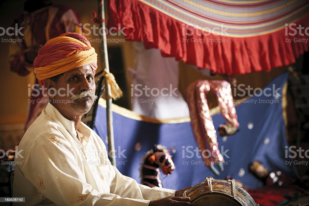 indian puppet show royalty-free stock photo