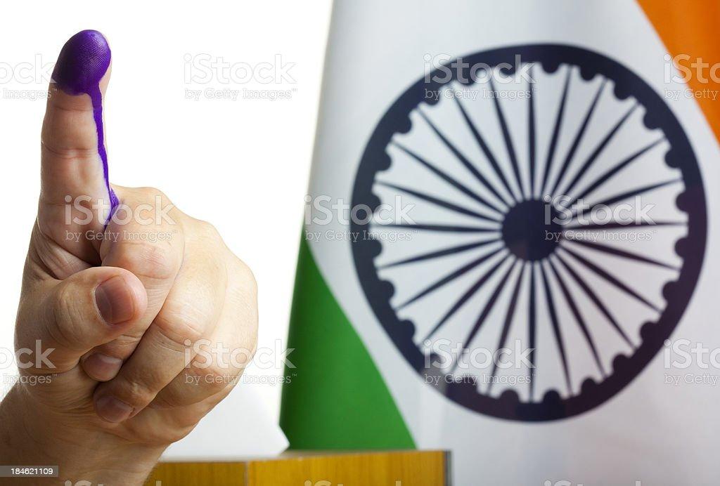 Indian referendum stock photo