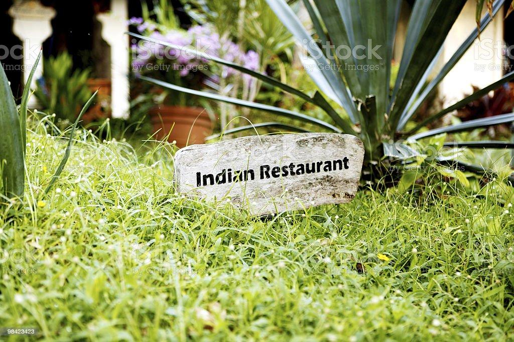 인도 레스토랑 royalty-free 스톡 사진