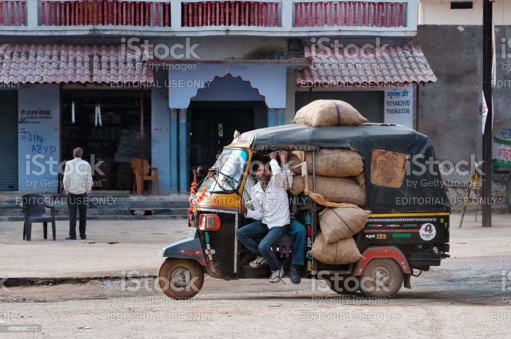 Indian rickshaw stock photo