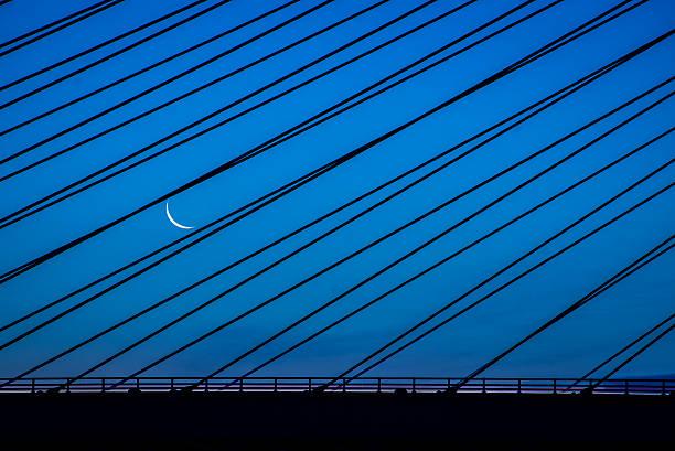 Indian River Inlet Bridge Moon stock photo