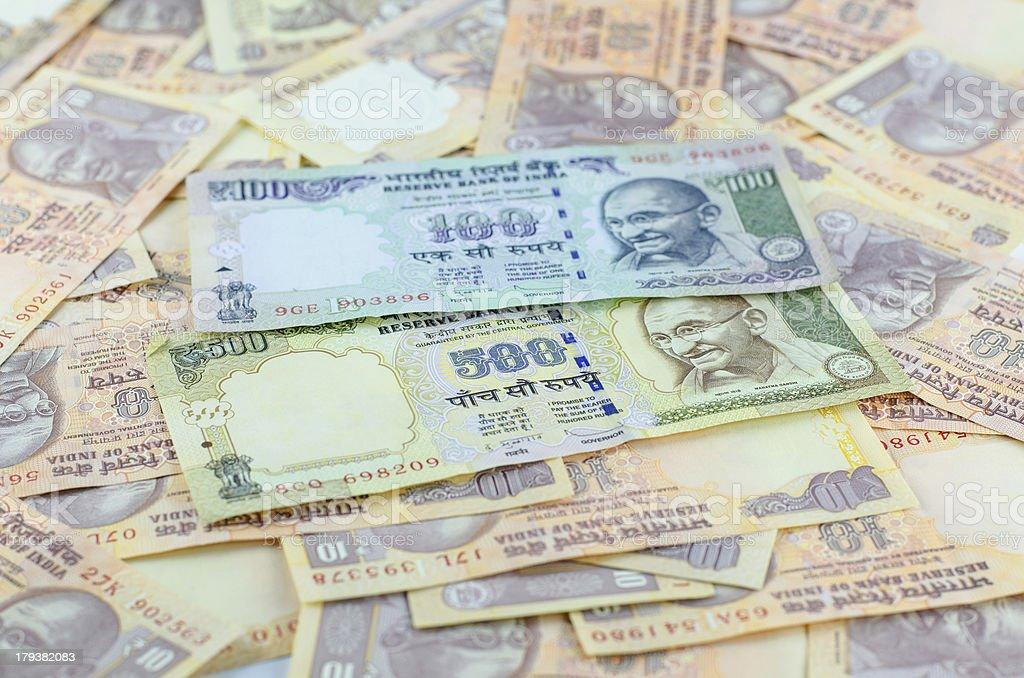 Indian Rupee bank notes royalty-free stock photo