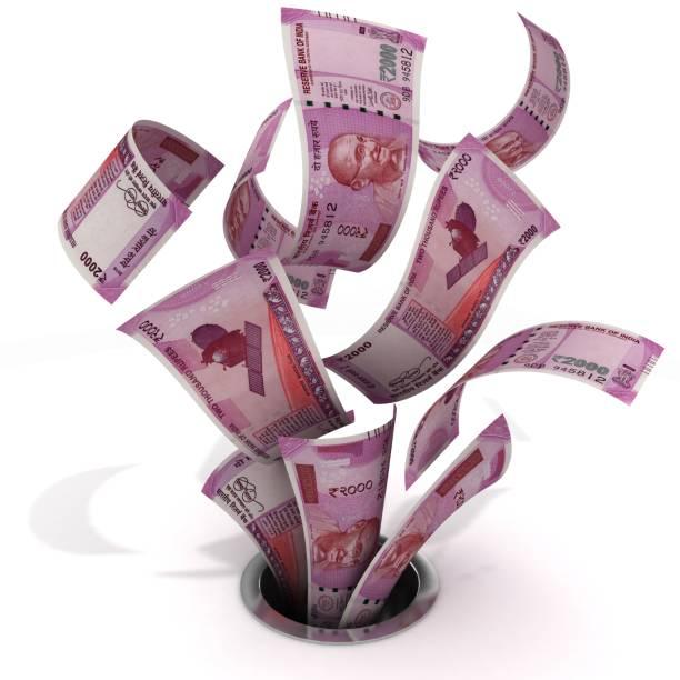 Indische Rupie fallenden Geld – Foto
