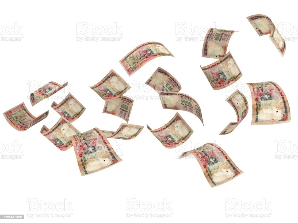 Indian rupee falling money royalty-free stock photo