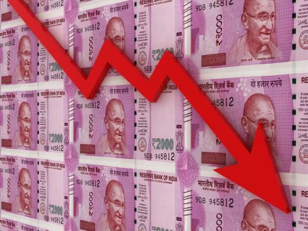 Indische Rube-Geld-Finanzkrise – Foto